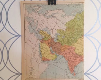 Antique Map of Asia Atlas Published by Geographia Map Co. Inc. 1930 Alexander Gross FRGS (1879-1958)