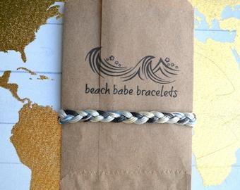"""Beach Babe Bracelets - """"Bottlenose Dolphin"""" - Braided Handmade Friendship Bracelet"""