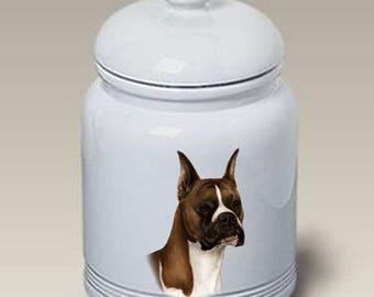 Boxer Ceramic Treat Jar