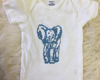 Blue Elephant Toddler Tee Shirt 18months