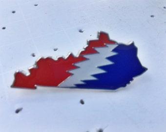 Kentucky Grateful Dead Glow in the Dark State Hat Pin