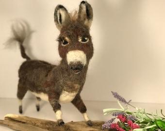Wool Art Donkey