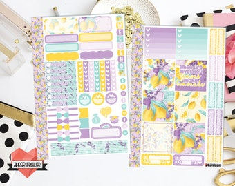 Lavender Lemonade Mini Happy Planner Sticker Kit | Planner Stickers