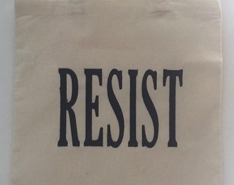 Resist Canvas Tote Bag | Protest | Activism | Resist. | Resistence