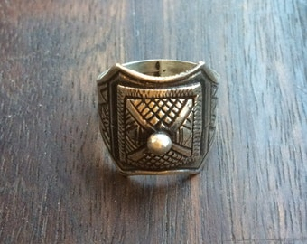 Silver domed ring - Tuareg design - handmade in Cairo