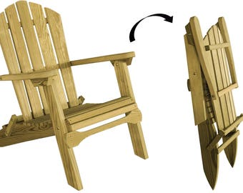 unfinished pressure treated pine folding adirondack chair modelluxfac amish made in the