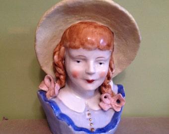 Porcelain sculpture,flower vase,bud vase, porcelain decor,vintage figurine,epsteam,flower box.