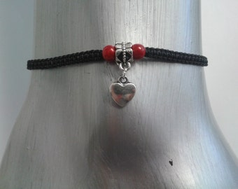 Heart anklet - heart ankle bracelet - heart - anklet - ankle bracelet - mothers day - Love heart - love anklet - heart jewelry - for her
