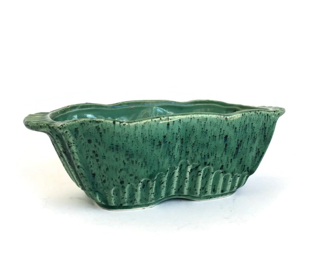 Vintage RRP Co. Art Pottery Turquoise Planter Robinson-Ransbottom No. 388 Roseville Ohio