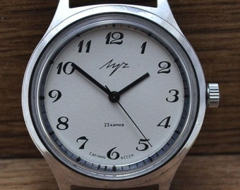 RARE Vintage Soviet Ussr Russian Watch LUCH Is Serviced