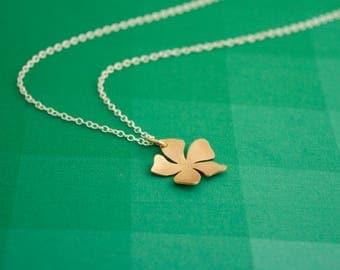 Spring Flower Pendant, Delicate Brass Flower, Delicate Bronze Flower Pendant