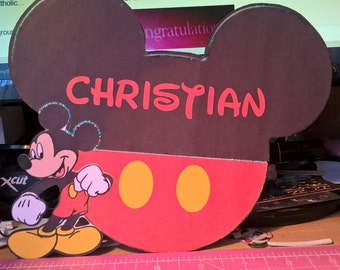 Large Micky Mouse Name Pin Badge