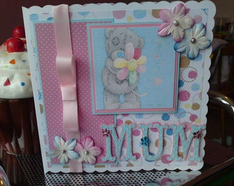 Mother's Day Me To You Card, Card for Mum, Card for her, Cute ladies card, Nanny, Grandma, Gran, Mom, Aunty, Step Mum, Mother,