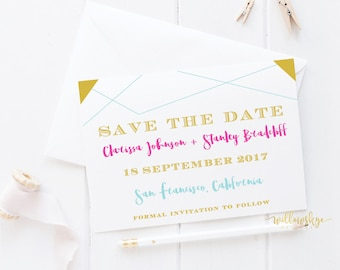Colorful Save the Date -- SAMPLE