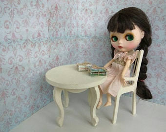 DOLL TABLE WOODEN Furniture playscale scale 1:6 furniture for doll Blythe Pullip Momoko Barbie Moxie Ever After bjd ooak sonkahouse