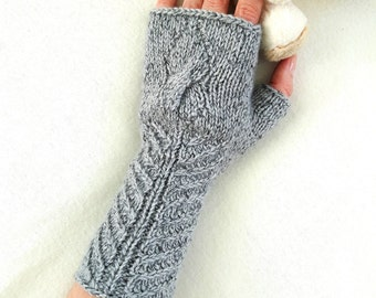 Knit gloves pattern PDF knitted fingerless gloves arm hand warmers pattern knit mitts pattern knitting instructions pdf instant download
