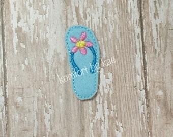 Flower Flip Flop Felties- (set of 4) UN-CUT