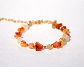 Carnelian Bracelet Natural Carnelian Jewelry Carnelian Gemstone bracelet Healing bracelet gift|for|her womens gift for sister mother gift
