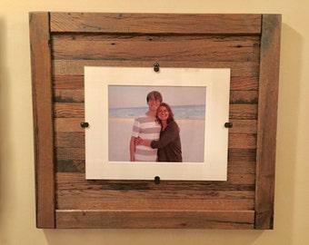 Reclaimed wood frame Etsy