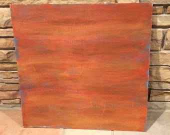 Abstract painting art red orange