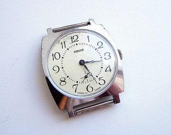 Vintage soviet watch Pobeda, mens wind up watch ussr