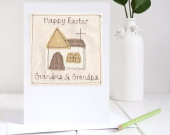 Personalised Easter Card - Easter Church Card - Christian Card - Happy Easter Card - Golden Wedding Anniversary Card - 50th Anniversary Card