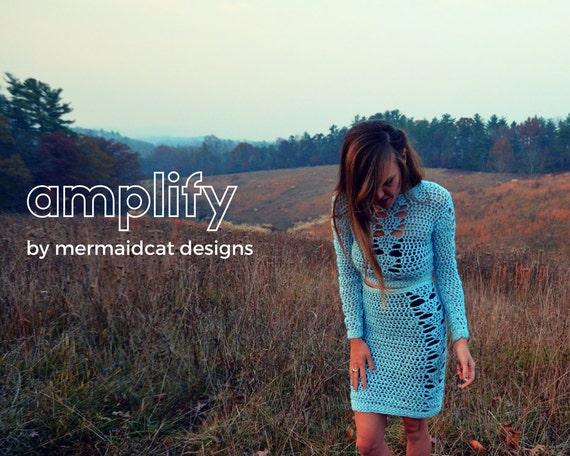 Crochet crop sweater pattern -Amplify