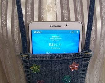 Denim/ Pocket Purse/ hands free jean pocket purse