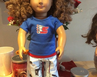 Spokane CHIEFS ! 18 Inch Doll Clothes,Handmade ,Fits All  18 Inch Dolls  2PC Outfit
