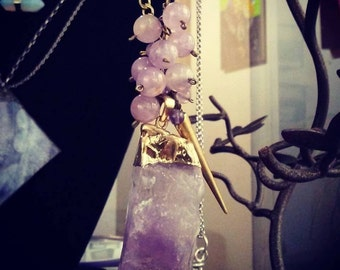 Amethyst Crown Necklace