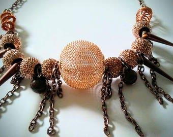 Copper Burst Necklace