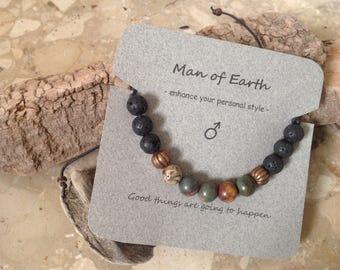 Man's Gemstone Bracelet from my new 'Man of Earth' range