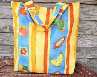 Tote bag, 100% linen  bag, Grocery Reusable Bag, Eco-friendly Natural Beach Tote Bag, RE-Used, Brown linen