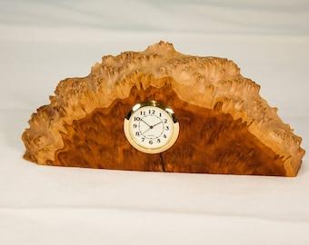 Red Mallee Burl Desk Clock