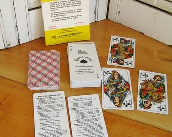Vintage 1972 Tarotrump Card Game and Official Rules Book by Stuart Kaplan Complete and Unused Vintage Retro Tarot Cards