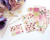 Bloom Horizontal Weekly Kit-- Matte Planner Stickers
