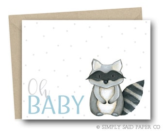 New Baby Card - Oh Baby - baby congratulations card, new baby on the way, baby shower card,
