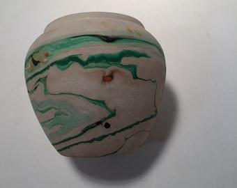 """Vintage Nemadji pottery vase 4 1/8"""" x 3"""""""