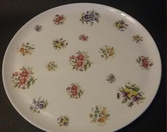 Round Platter by Maurice Duchin in Spring Fever pattern