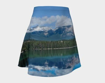 Mountain Skirt | Simple Womens Skirt | Womens A-Line Skirt | Womens Cute Skirt | Comfortable Womens Skirt | Hippie Womens Skirt