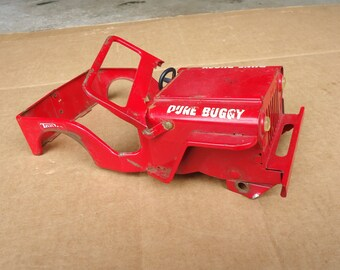 vintage Tonka toys,jeep Dune Buggy body shell skeleton,red jeep vehicle parts,for display