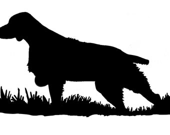 Brittany Silhouette Bird Dog Upland Hunting Decal (Medium)