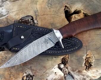 Custom knife, damascus knife, handmade custom knife, custom knives, custom damascus knife
