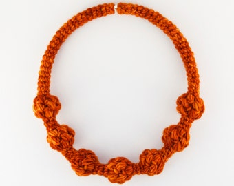 Statement Jewellery, Unique jewelry made of yarn, Fashion accessory, Women necklace, Unique gift