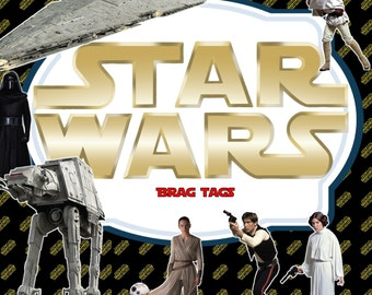 Star Wars Inspired Brag Tag-Editable