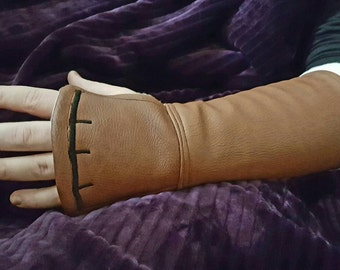 Faux leather gauntlet