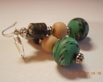 Bo Ho Dangle Beaded Earrings  Hand made