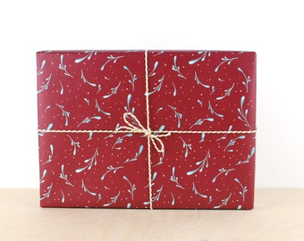Mistletoe Gift Wrap, Gift Wrap Paper, Holiday Gift Wrap, Designer Gift Wrap, Christmas Gift Wrap, Christmas Gift Wrapping Paper,