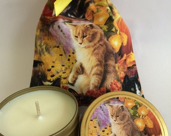 6oz Candle Tin - Autumn Ginger Cat