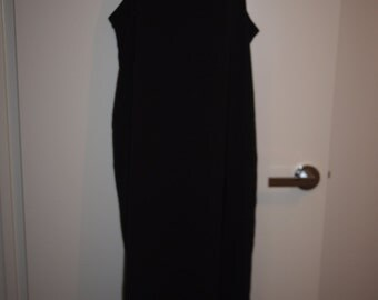 Black Oversized Tank Singlet Maxi Dress